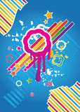 Colorful vintage background. With modern details Stock Photo