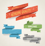 Colorful vintage banners Royalty Free Stock Photography