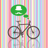 Colorful Vintage Bicycle stock illustration