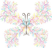 Colorful vintage butterfly Royalty Free Stock Images