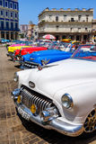 Colorful vintage cars in downtown Havana Royalty Free Stock Photography