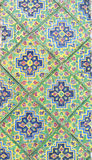 Colorful vintage ceramic tiles wall. Decoration background Stock Images