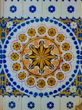 Colorful vintage ceramic tiles royalty free stock photography