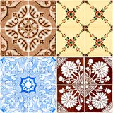 Vintage ceramic tiles Stock Photos