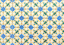 Colorful vintage ceramic wall tiles decoration royalty free stock photography