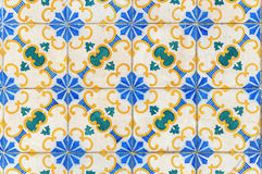 Colorful vintage ceramic wall tiles decoration royalty free stock image