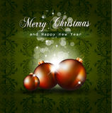 Colorful Vintage Christmas Baubles Background Royalty Free Stock Images