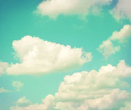 Colorful vintage clouds and sky. Nature backgroud Royalty Free Stock Photos