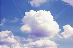 Colorful vintage clouds and sky. Nature backgroud Stock Photo
