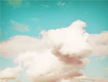 Colorful vintage clouds and sky. Nature backgroud Stock Photography