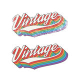 Colorful Vintage design Royalty Free Stock Photo