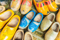 Colorful vintage Dutch wooden clogs Royalty Free Stock Image