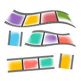 Colorful vintage film or camera strip. Colorful vintage film or camera strip on white background Royalty Free Stock Image