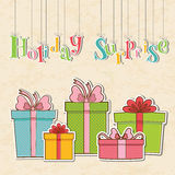 Colorful vintage gift postcard background concept Stock Photography