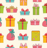 Colorful vintage gift set background concept. Stock Photography