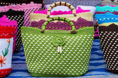 Colorful of vintage handbag. Royalty Free Stock Photos