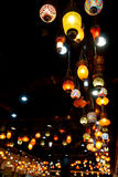 Colorful vintage lamps Royalty Free Stock Photos