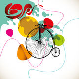 Colorful vintage layout. Royalty Free Stock Photography