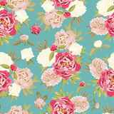 Colorful vintage pattern with floral ornament. Seamless background Stock Image