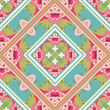 Colorful vintage pattern with floral ornament Royalty Free Stock Photos