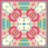 Colorful vintage pattern with floral ornament Stock Image