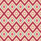 Colorful vintage pattern with floral ornament Royalty Free Stock Photo