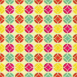 Colorful vintage pattern. Seamless vector background inspired by retro style and 60's textile design royalty free illustration
