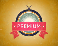 Colorful vintage premium label Stock Photo