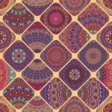 Seamless pattern. Vintage decorative elements. Hand drawn background. Islam, Arabic, Indian, ottoman motifs. Perfect for printing. Colorful vintage seamless Royalty Free Stock Image