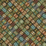 Seamless pattern. Vintage decorative elements. Hand drawn background. Islam, Arabic, Indian, ottoman motifs. Perfect for printing. Colorful vintage seamless Stock Images