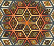 Seamless pattern. Vintage decorative elements. Hand drawn background. Islam, Arabic, Indian, ottoman motifs. Perfect for printing. Colorful vintage seamless Royalty Free Stock Images