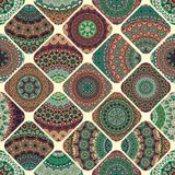 Seamless pattern. Vintage decorative elements. Hand drawn background. Islam, Arabic, Indian, ottoman motifs. Perfect for printing. Colorful vintage seamless Royalty Free Stock Photography