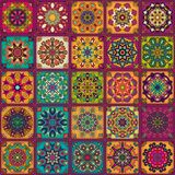 Seamless pattern. Vintage decorative elements. Hand drawn background. Islam, Arabic, Indian, ottoman motifs. Perfect for printing. Colorful vintage seamless Royalty Free Stock Photo