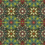 Seamless pattern. Vintage decorative elements. Hand drawn background. Islam, Arabic, Indian, ottoman motifs. Perfect for printing. Colorful vintage seamless Stock Photos