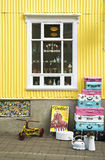 Vintage shop in akureyri iceland Royalty Free Stock Photos