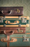 Colorful vintage suitcases Royalty Free Stock Photos