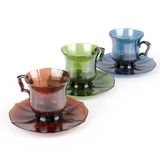 Colorful Vintage Tea Or Coffee Cup  On White Stock Image