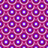 Colorful vintage violet-purple-white seamless pattern Stock Photos
