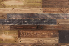 Colorful vintage wooden board texture with nails background.  Stock Photo