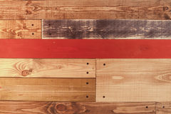Colorful vintage wooden board texture with nails background.  Royalty Free Stock Image