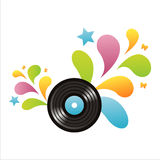 Colorful vinyl record background Stock Image