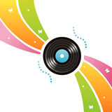 Colorful vinyl record background Royalty Free Stock Photos