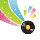 Colorful vinyl record background Royalty Free Stock Images