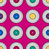 Colorful vinyl record, pattern background. Stock Photo