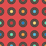 Colorful vinyl record, pattern background. Stock Photos