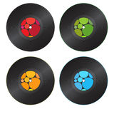 Colorful Vinyl Records Royalty Free Stock Images