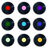 Colorful vinyl records collection Stock Image