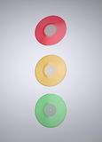 Colorful Vinyl records Stock Images