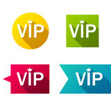 Colorful VIP badges label set Stock Photo