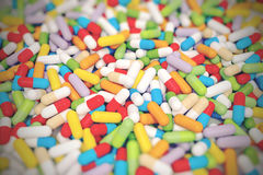 Colorful Vitamin Tablet - 3D illustration Royalty Free Stock Photography